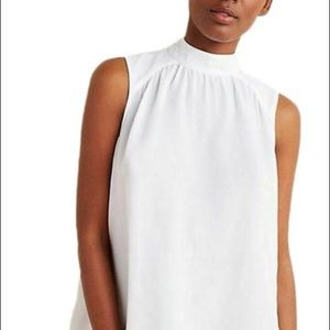 Anthropologie- White Mock Neck